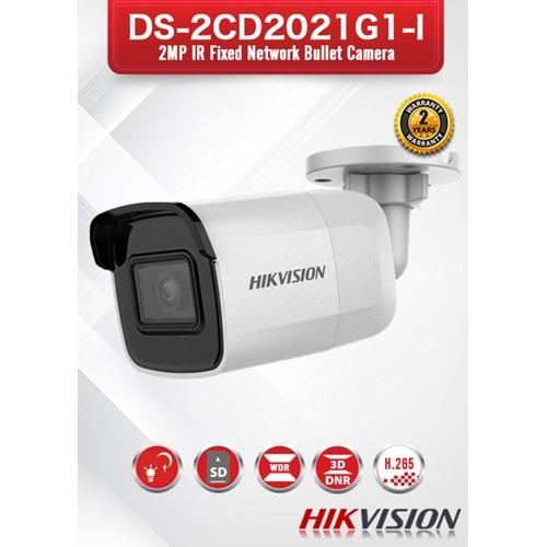 HIKVISION DS-2CD2021G1-I 2MP 4MM IR BULLET POE IP KAMERA