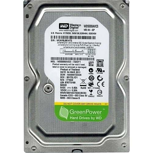 WESTERN DIGITAL 500 GB HDD
